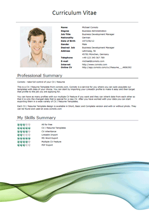 resume template word - Free Resume Templates Downloads Word
