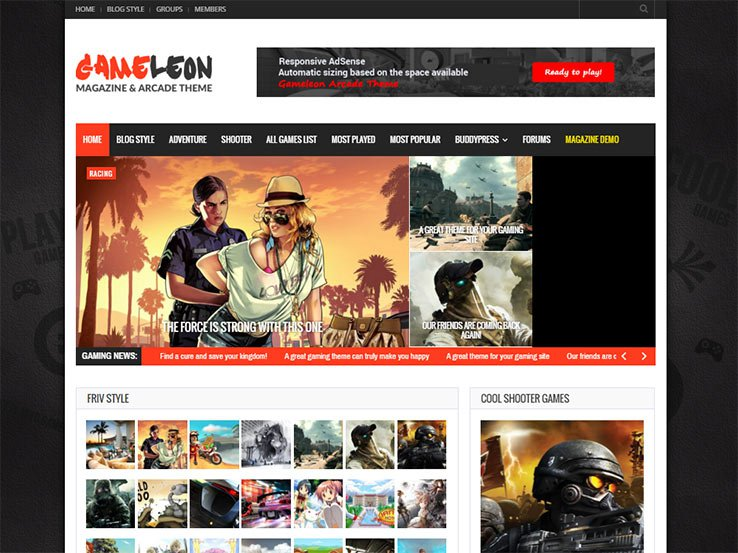Gaming WordPress Themes GameLeon