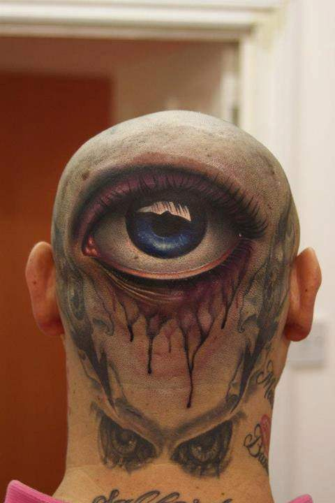 Back Head Eye Tattoo