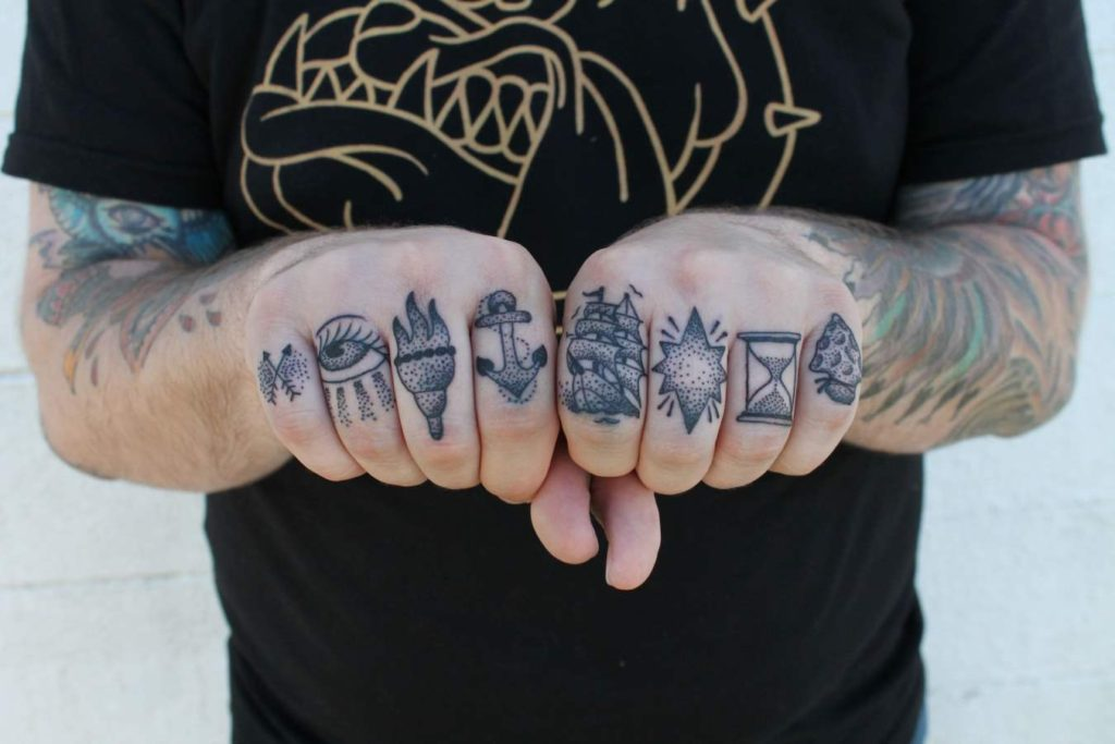 Planets Tattoos on Finger