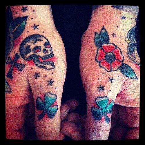 Flower Tattoos on Finger Designsmag