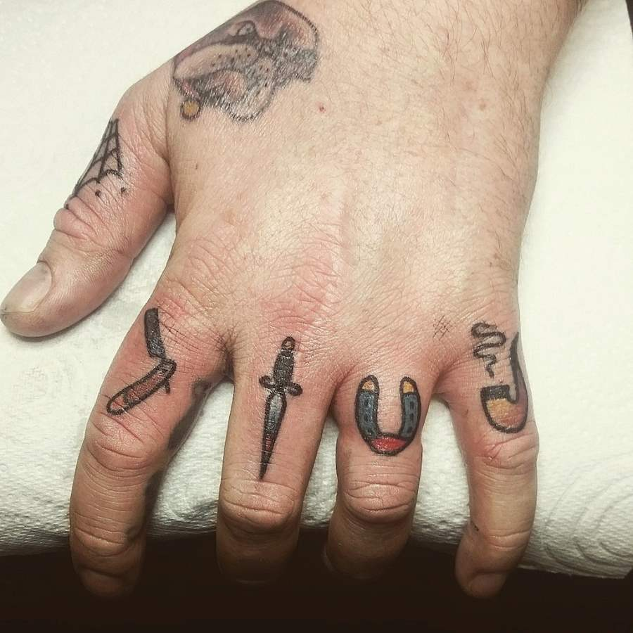 Men Tattoos on Finger