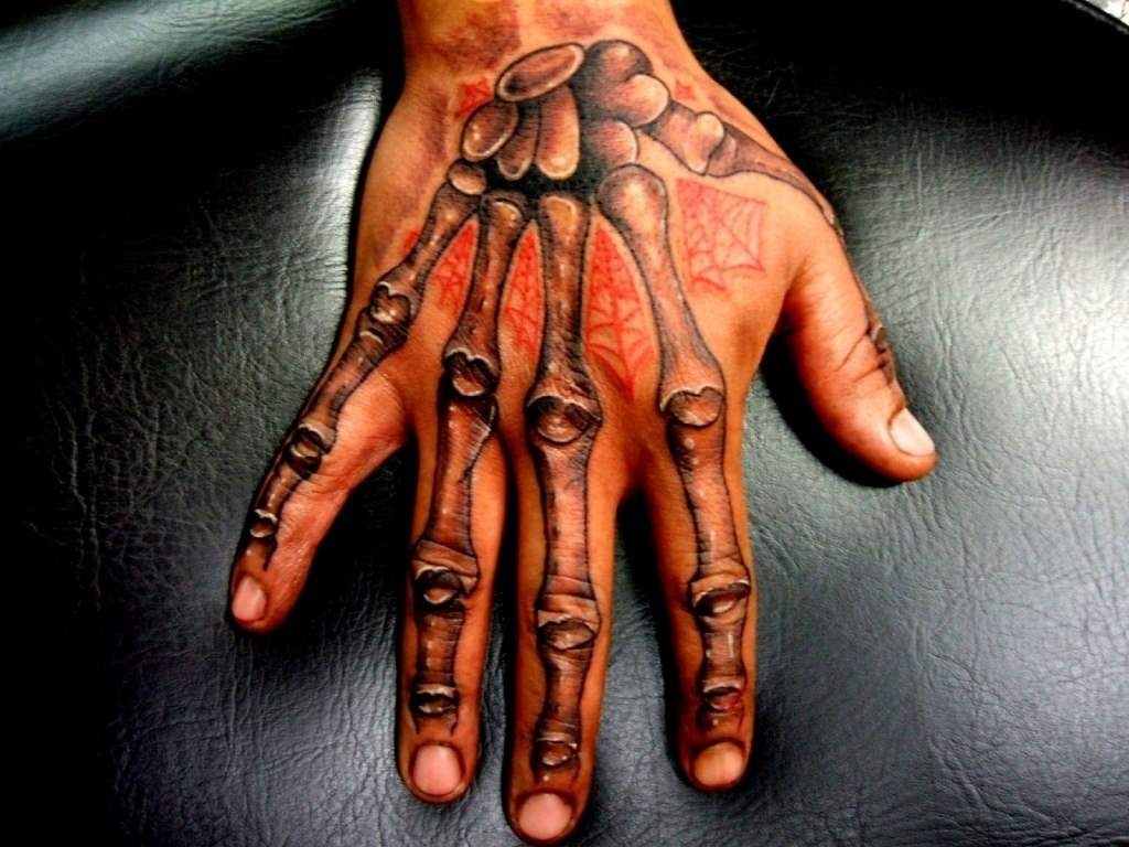 Skeleton Tattoos on Hand