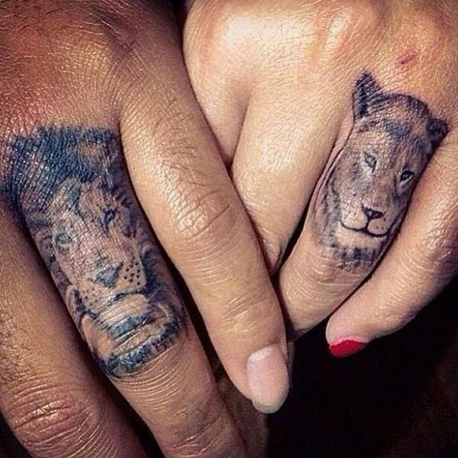 Animal Tattoos on Hand.