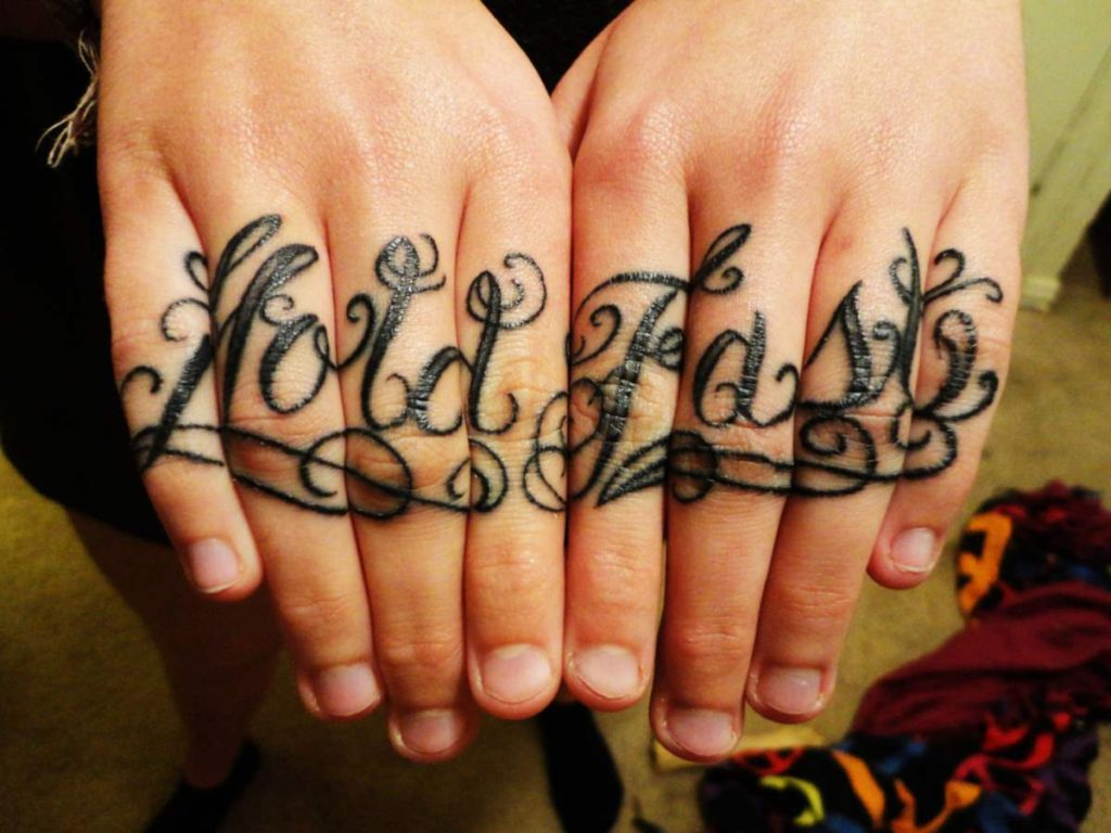 Tribal Tattoos on Finger