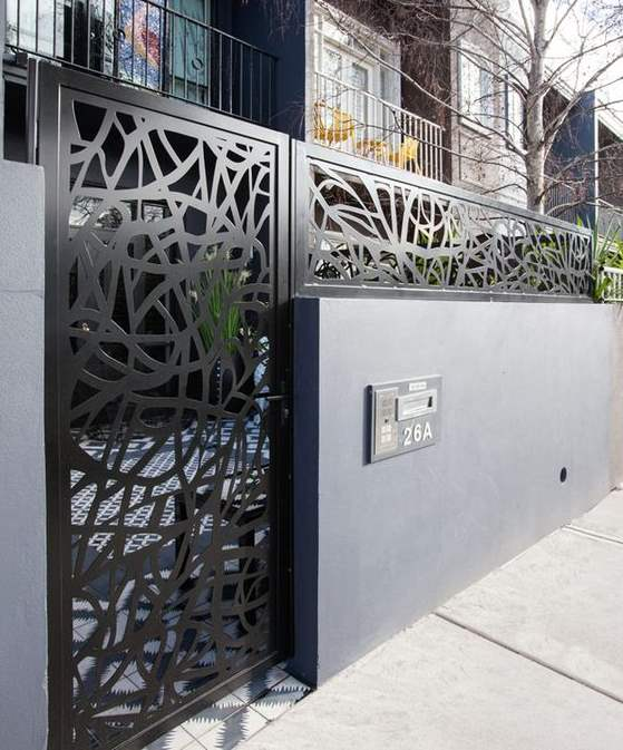 35 stunning modern main gate design for home decoration for Single gate designs for homes