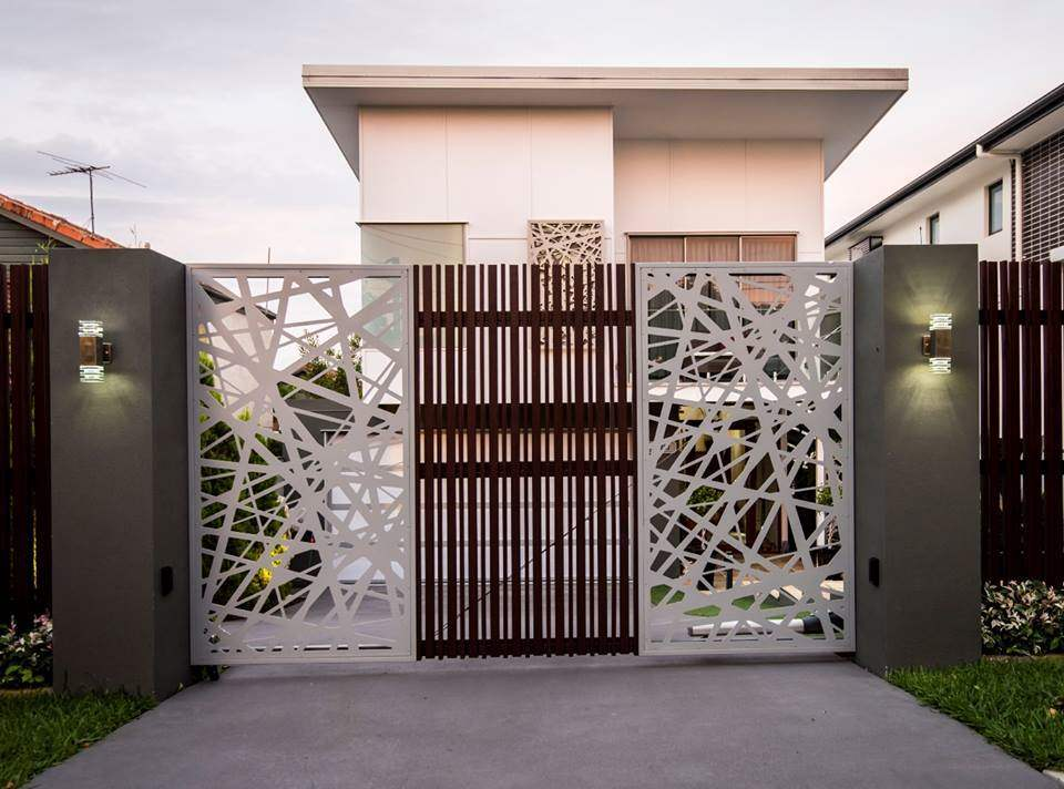 35 stunning modern main gate design for home decoration page 3 - Entrance gate designs for home ...