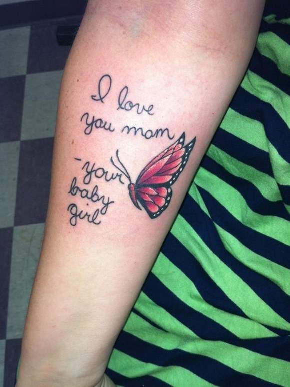 Love You MOM Tattoo