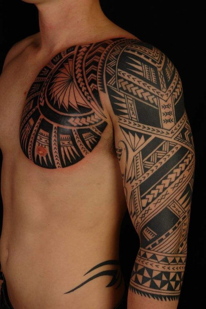 Arm and Shoulder Tribal Tattoos ideas