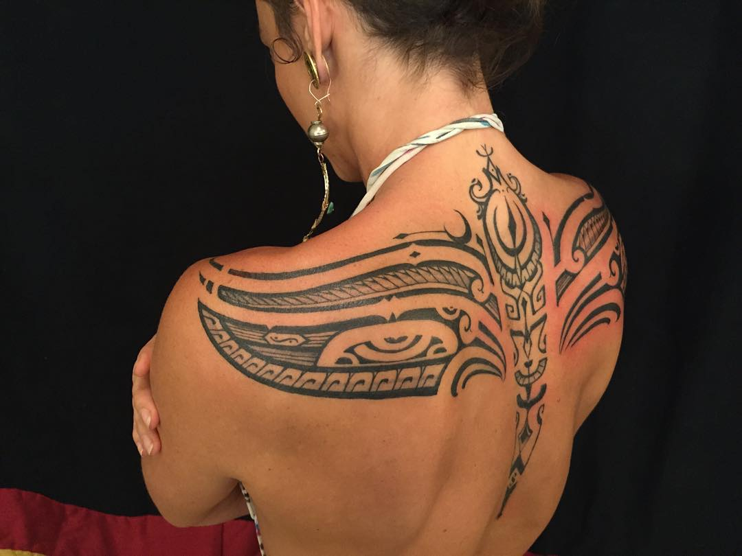 30 unique tribal tattoos designs ideas polynesian for Hawaiian tattoos for females