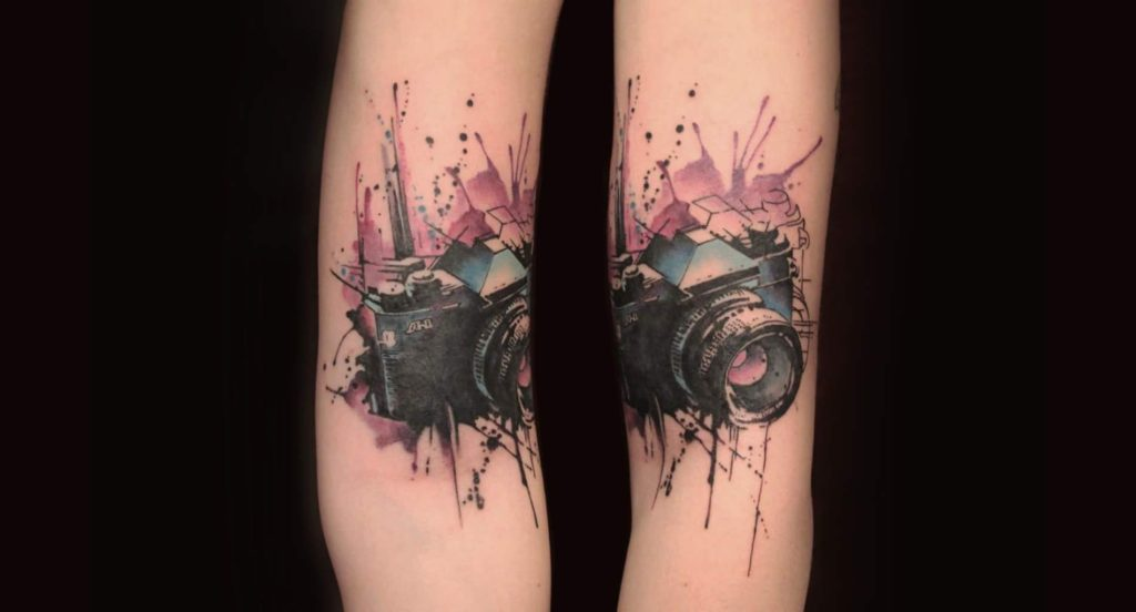 3d watercolor tattoo pretty