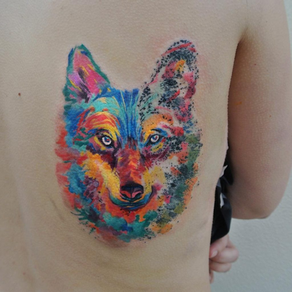 Fox tattoos watercolor
