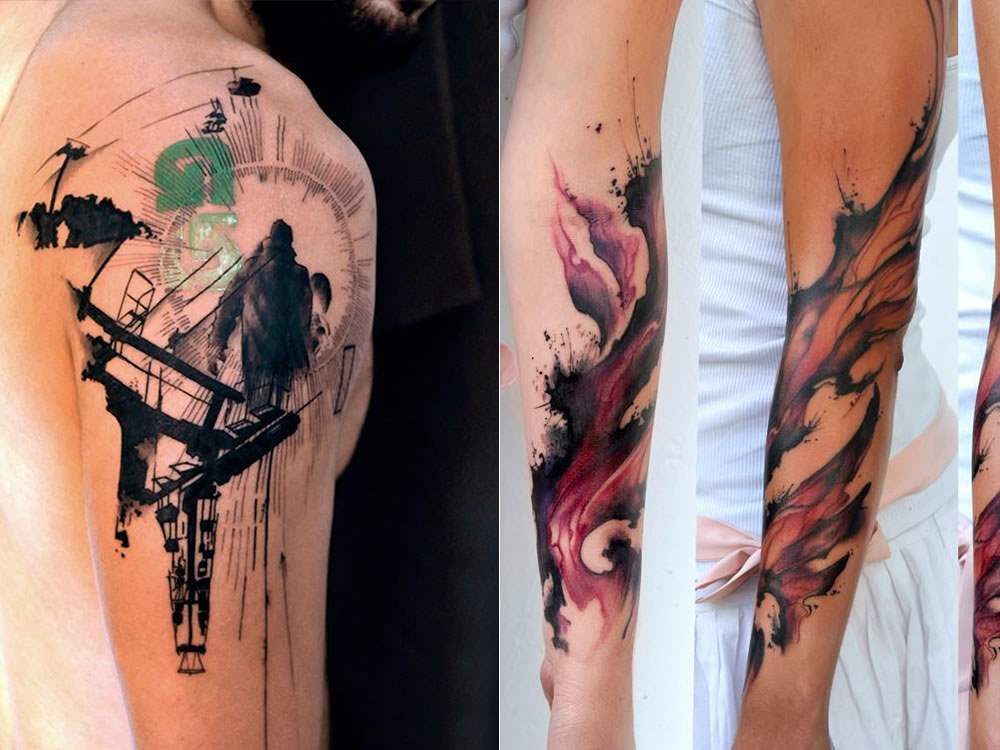 watercolor cool tattoos