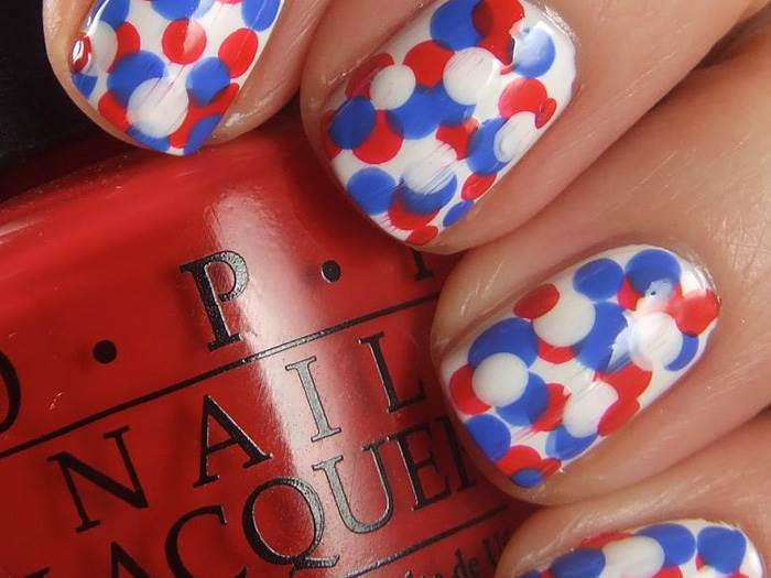 Super easy and amazing 4th of july decorations ideas for 4th of july nail art decoration flag