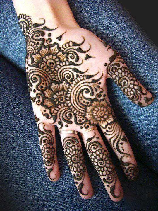 Simple Mehndi 2017 : Latest updated simple and easy mehndi designs for