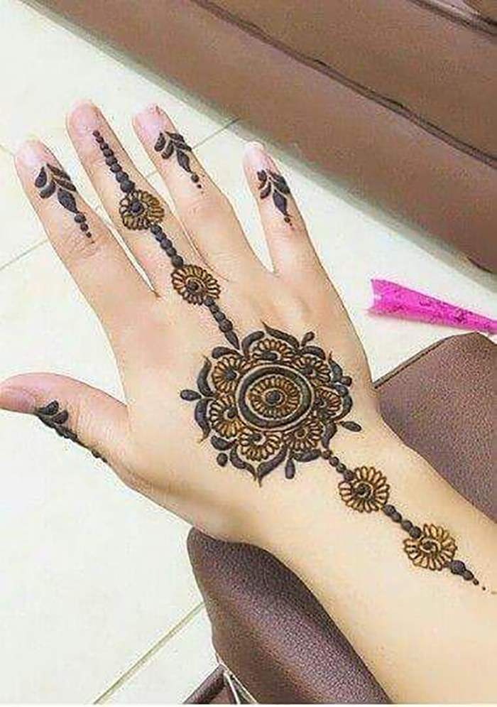 Simple Mehndi Patterns For Eid : Latest updated simple and easy mehndi designs for